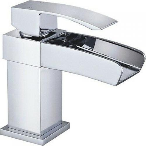 HARLYN Modern Chrome Square Bathroom Basin Mixer, Bath Filler, Shower Tap
