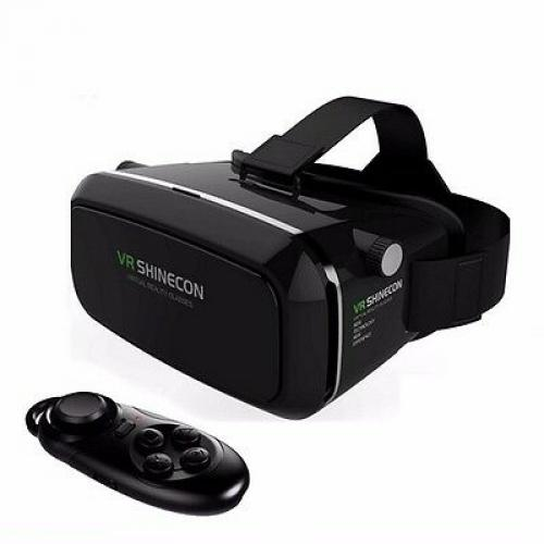 Google Cardboard VR Shinecon Pro Version VR Virtual Reality 3D Glasses+Bluetooth